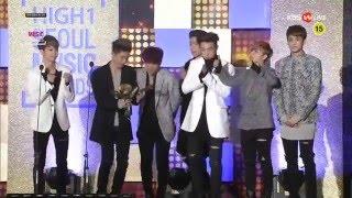 [ENG] 160114 iKON accepting BIGBANG's Song of The Year Award @ Seoul Music Awards