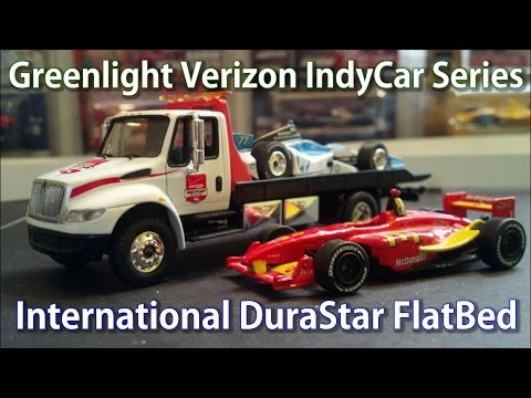 GreenLight International DuraStar Flatbed- Verizon IndyCar Diecast HD Unboxing and Review