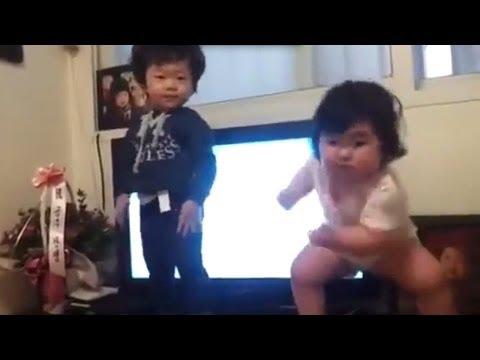 Niños Coreanos bailando de una manera muy peculiar niña coreana Su baile da la vuelta al mundo!