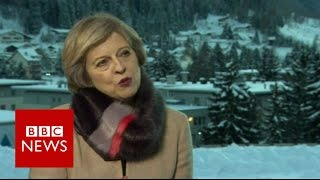May's 'positive discussion' with banks - BBC News