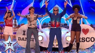 All the way from SAN FRAN-DISCO It's DJ Murray Mint!   Auditions   BGT 2018