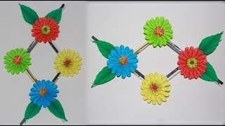 DIY. Wall hanging flower crafts ideas | Simple Bedroom Decoration