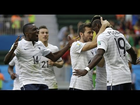 France 2-0 Nigeria, knock out stage , fifa world cup 2014 , full time match update