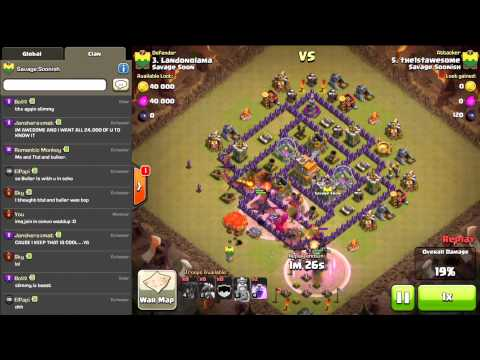 Clash Of Clans - Clan War- Savage Soonish Vs Savage Soon!!