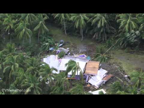Helicopter video of extensive damage from Tropical Storm Iselle - PUMA, Hawaii