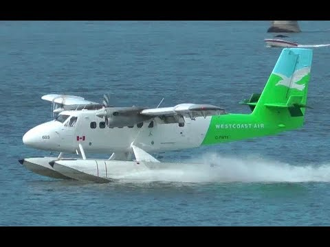 Twin Otter Seaplane in Action