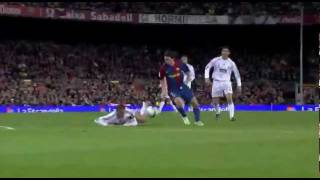 Messi - 19 - makes a hat-trick against Real Madrid (stadium feed, no comms)