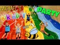 Super Bee Friend Fun!!  Michael's 4th Birthday at a HUGE Indoor Play Center! -