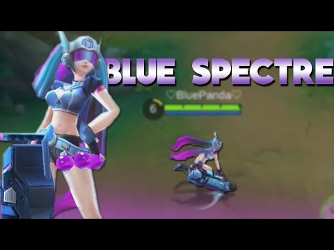 Mobile Legends NEW LAYLA SKIN GAMEPLAY! (BLUE SPECTRE)