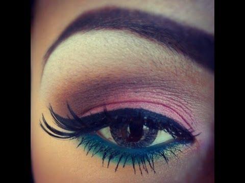 maquillaje rosa verde cafe inspirado por paola