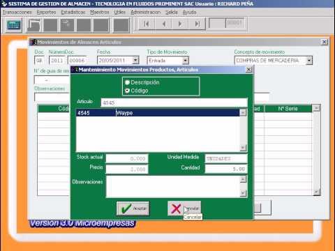 Sistema de almacen e inventario para microempresas (Peru)
