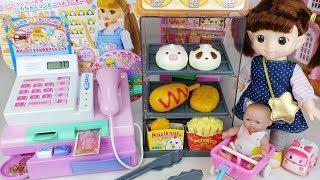 Baby doll Mart register and food shop toys Cash Shopping play 편의점 마트 계산대 아기인형 뽀로로 장난감놀이 - 토이몽