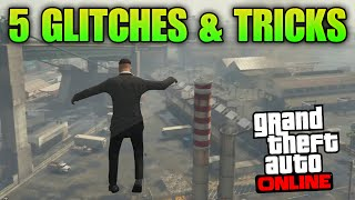 GTA 5 Glitches - 5 Glitches & Tricks on GTA 5 Online (Drive on 2 Wheels, Launch Glitch, Under Map)