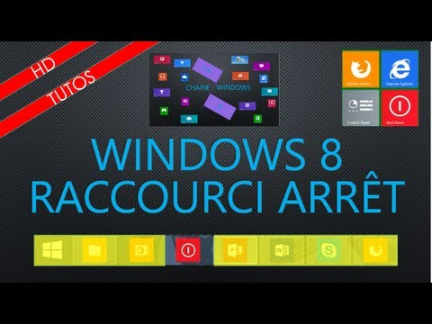 Fr raccourci arr t sur bureau de windows 8 youtube for Bureau windows 8