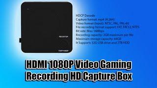 HDMI 1080P Video Gaming Recording HD Capture Box
