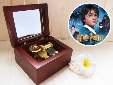 Wooden Windup Japanese Sankyo Music Box Harry Potter Hedwig's Theme Soundtrack Hermione Gift