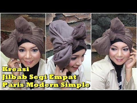 Cara Memakai Jilbab Kreasi Segi Empat Simple Terbaru by Revi