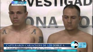 CAPTURARON CARJACKERS DE LOS DOBLE A