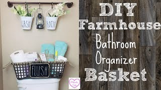 DIY Dollar Tree Farmhouse Organizer Basket | Great For Limited Storage Space