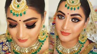 Indian Bridal makeup    Indian wedding makeup smokey eyes step by step makeup tutorial