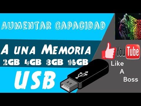 AUMENTAR LA CAPACIDAD DE TU USB HASTA 16GB   FUNCIONA 100%   SE AHORRA DINERO!!