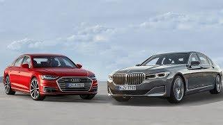 2020 BMW 750i xDrive vs 2019 Audi A8 55 TFSI