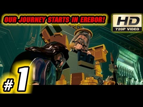 LEGO The Hobbit Video Game Playthrough: Part 1 - Our Journey Starts In Erebor!