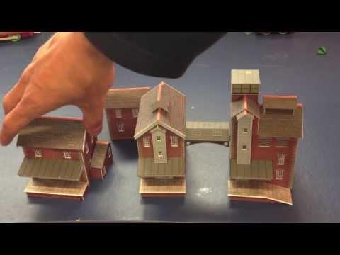 Metcalfe Brewery card kit. n gauge model railway kit review