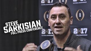 Steve Sarkisian first full press conference as Alabama offensive coordinator