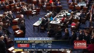 Senate Dems Stage Strange Protest During ObamaCare Vote