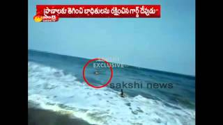 Guards saves studentand#39;s life in Visakhapatnam RK beach
