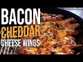 Bacon Cheddar Cheese Chicken Wings Recipe by the B…