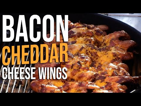 Bacon Cheddar Cheese Chicken Wings Recipe by the BBQ Pit Boys
