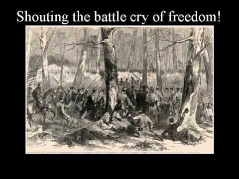 battle cry of freedom Battle cry of freedom - southern version words and music: george f root this was one of root's best songs it was the most effective rallying song of the north .