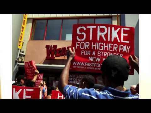 Fast Food Workers Strike All Over The Country Demanding $15 An Hr