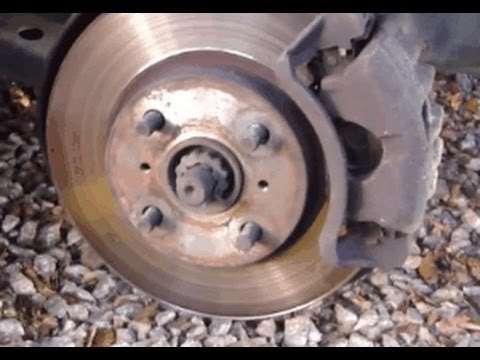 How to change front brake pads Toyota Corolla. Years 1995-2001.