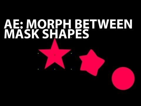 After Effects Tutorial: Morphing Between Mask Shapes (Beginner)
