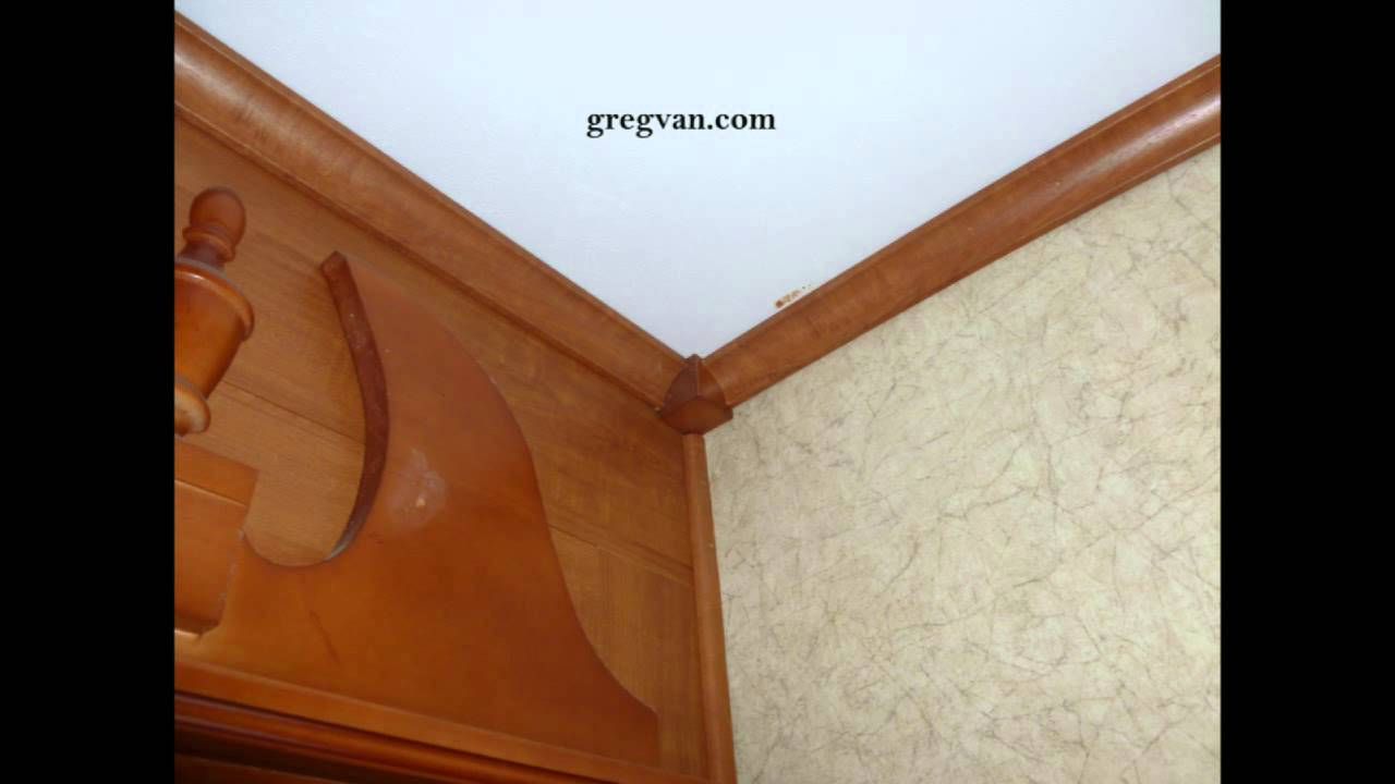How To Finish Corner Of Crown Molding With Wood Block