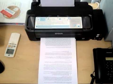 Epson L300 Print Speed Test