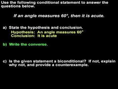 Conditional Statements - Converse and Biconditional