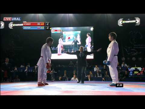 Davydov Mikhail (RUS) - Atamov Shahin (AZE) Gold medal fight Karate1 Premier League, Tyumen 2013