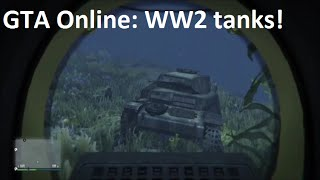 GTA Online: location of World War 2 tanks (T-34 and Panzer II)