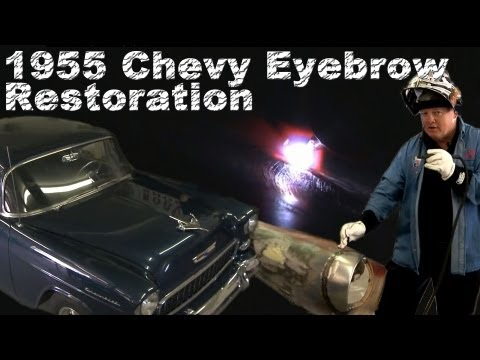 How to TIG Weld a 55 Chevy Restoration (Welding the Eyebrow) TIG Time