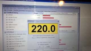 Acer AS1410 Benchmark Score Before 4GB RAM and SSD Hard Drive Upgrade