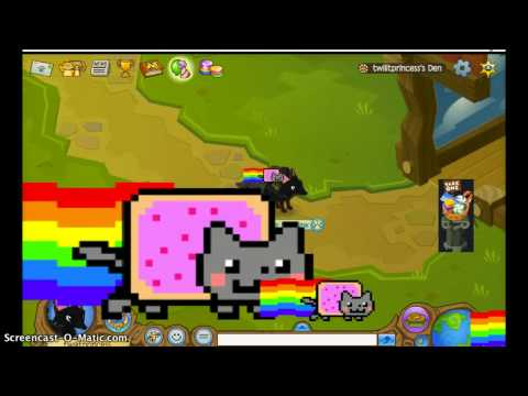 NYAN CATS INVADE ANIMAL JAM!!!