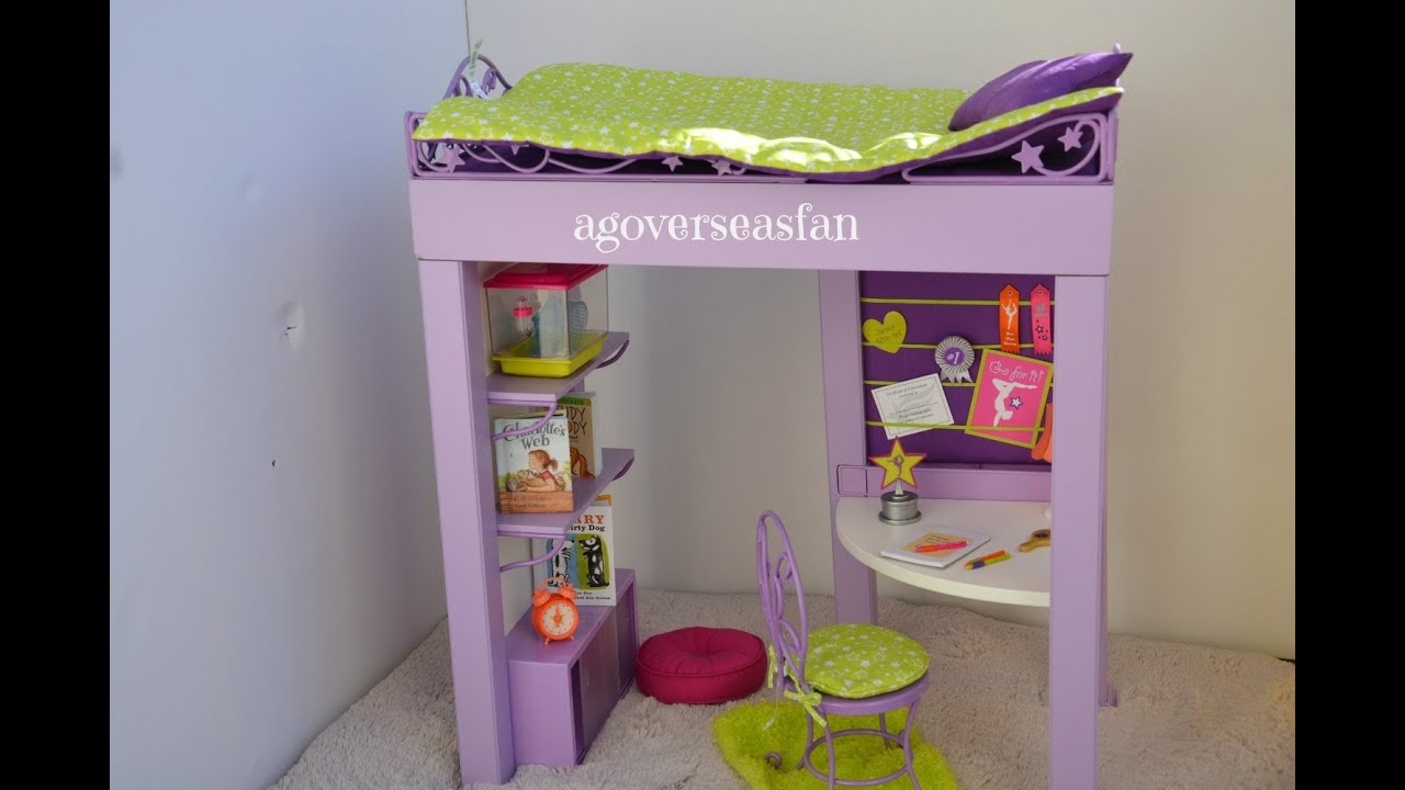 Setting Up American Girl Doll Mckenna S Loft Bed Youtube