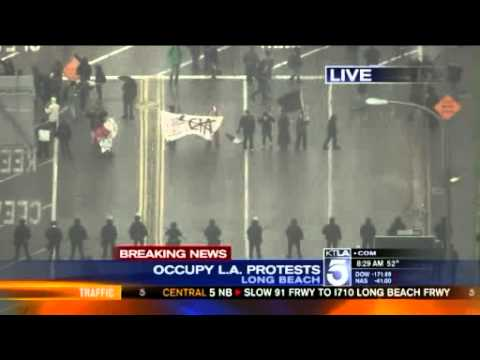 Occupy Long Beach Port Shutdown (KTLA)
