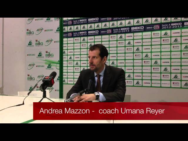 Montepaschi Siena - Umana Reyer: dichiarazioni post-partita Andrea Mazzon