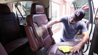2015 CHEVY SUBURBAN INTERIOR GETS THOROUGHLY CLEANED - How To Clean Leather Interior