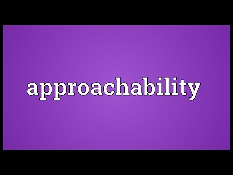 Header of approachability